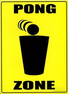 Beer Pong Zone Tin Sign