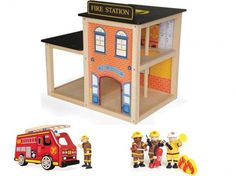 Crafts for Boys Age 7 | Boys Wooden Toy Fire Engine Station Cre Pintoy Age 3 4 5 6 7 Years ...