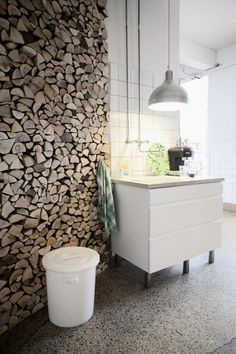 A fire log wall would be cool, unless your house caught on fire!