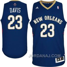 anthony davis new orleans pelicans navy blue jersey