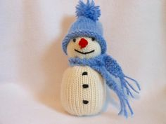 Little Knitted Snowman Holidays Winter Christmas by KatesCache