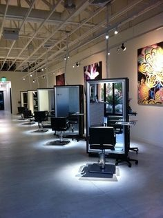 Lighting effects/salon ideas diagonal salon stations