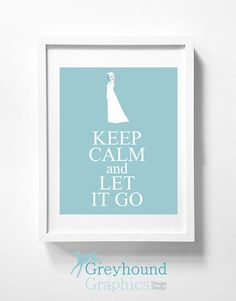 Disney's Frozen DIY printable wall art  - Elsa - Keep Calm - Let It Go - Disney - Blue - Wall Art - Printable - Instant Download - Children