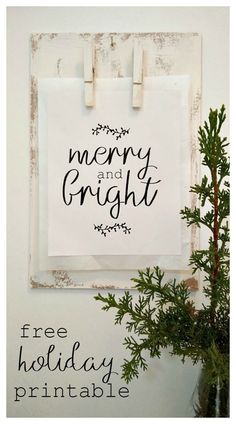 Merry and bright free holiday printable - kreativk.net