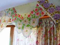 Hankie handkerchief decorating vintage floral