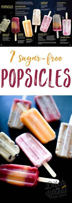 All naturallysweetened and kid friendly. dairy free popsicles, healthy popsicles, paleo popsicles, vegan popsicles Source by Home Made Popsicles Healthy, Homemade Fruit Popsicles, Healthy Popsicle Recipes, Real Food Recipes, Frozen Popsicles, Paleo Recipes, Cookie Recipes, Healthy Snacks, Sugar Free Popsicles