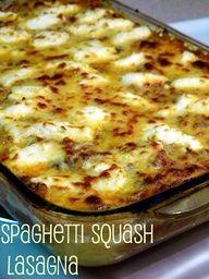 Easy peasy Spaghetti Squash Lasagna