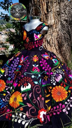 Mexican Theme Dresses, Quince Dresses Mexican, Mexican Fancy Dress, Mexican Party, Mexican Quinceanera Dresses, Quinceanera Cakes, 15 Birthday Dresses, Vestido Charro, Xv Dresses
