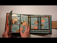 Graphic 45 Voyage Beneath the Sea Graphic 45, Tutorial Scrapbook, Memory Album, Memory Books, Paper Bag Album, Beneath The Sea, Mini Albums Scrap, Mini Album Tutorial, Handmade Books