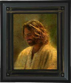 Jesus Christ Greg Olsen Art | Joy of the Lord - LDS Art - Frame #490 17x20