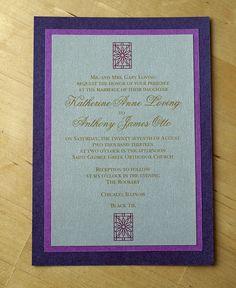 Rookery - Wedding Invitation- Flower Purple   by ericksondesign