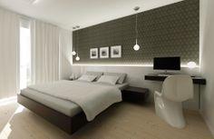 black&white bedroom interior design