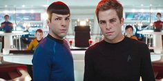 Spock and Captain Kirk   ;D