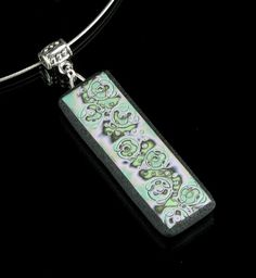 Polymer Clay Mokume Gane Necklace - Pendant - Clay Pendant - Polymer Clay…