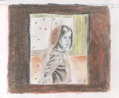 Miranda en la ventana Painting, Art, Sketchbooks, Windows, Sketches, Art Background, Painting Art, Kunst, Paintings