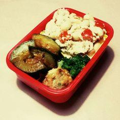 9/12 豆ツナマヨサラダ、ズッキーニの和風ピリ辛炒め、エビとひじきのふんわり揚げ(冷凍)、ブロッコリ