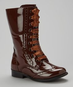 Take a look at this Brown Brogue Boots by L'Amour Shoes on #zulily today!