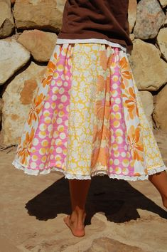 Panel Party Skirt Tutorial | blooming poppies - a great way to not waste any material