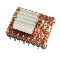 HF-A4988 Stepper Motor Driver Module for 3D Printer With Heat Sink - Red + Black. Features: Built-in converter; Easy to operate; Output driving performance up to 35V, +/-2A; Great for dealing with complicated useless or overload applications of microprocessor Specification Low RDS output; Auto current decay mode check / choose; Mixture and low current decay mode; Sync rectification for lower power dissipation; Built UVLO and cross current protection; 3.3V / 5V; With over-heat off circuit and…