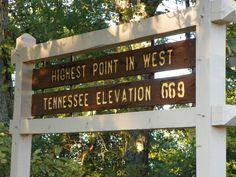 Highest elevation in West TN marker