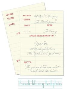 Love these book plates... free printables are awesome!