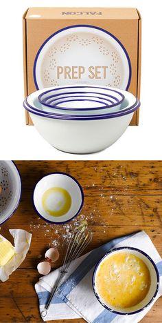 Prep Set Bowls by Falcon Enamelware...I neeeed something like this so bad!