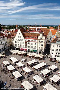 Old Tallinn Market Square Estonia