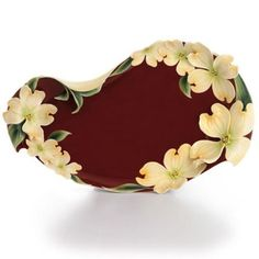 Exceptional Kathy Ireland Home By Franz Collection Autumn Memories Floral Porcelain  Serving Platter   Design
