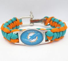 Paracord Bracelet Miami Dolphins Football