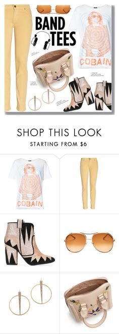 """Band Tees"" by drigomes ❤ liked on Polyvore featuring R13, Paul & Joe, Laurence Dacade, Chloé, Charlotte Russe and Alexander McQueen"