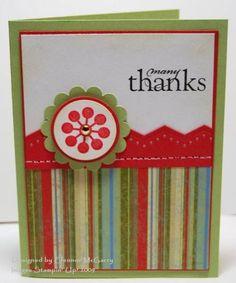 Stampin Up Modern Flower & Stripe Thanks