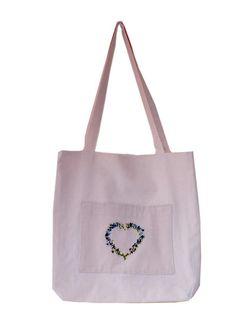 Praktická taška s ruční výšivkou. Reusable Tote Bags