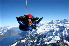 I've been skydiving before, but I'd love to go again somewhere with a view, like over the Swiss Alps!