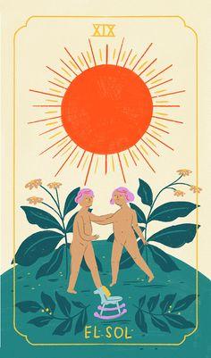 O Sol Tarot, Tarot Cards, Tarot Card Art, The Sun Tarot Card, Tarot Spreads, Hippie Art, Visionary Art, Tarot Decks, Surreal Art