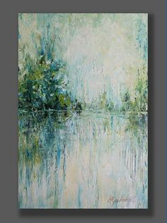 Turquoise Wall Art Oil Landscape Painting Original Abstract Artwork Palette Knife Modern Art Art Painting Living Room Art Gift for Her - This painting has been sold, but I can do the similar one for you. Abstract Nature, Abstract Landscape Painting, Abstract Oil, Abstract Canvas, Oil Painting On Canvas, Landscape Art, Landscape Paintings, Modern Oil Painting, Landscape Design