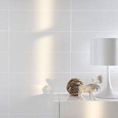 Carrelage mural strozzi blanc 20 x 50 cm castorama for Carrelage mural blanc brillant 30x60