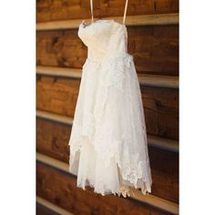 (2) Ivy & Aster short lace reception dress : Hillary Maybery... ❤ liked on Polyvore featuring dresses, reception dresses, short dresses, short length dresses, lacy dress and lace dress