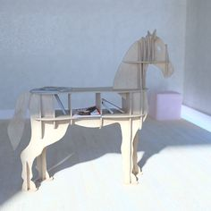 cnc vector for plywood horse coffee table 3d model dxf pdf 3