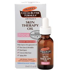 Palmer's Cocoa Butter Formula Moisturizing Skin Therapy Oil for Face with Vitamin E, Rosehip Fragrance Fl Oz (Pack of Vitamine E Oil, Clear Skin Tips, Les Rides, Uneven Skin, Healthy Skin Care, Face Skin Care, Lip Scrubs, Skin Treatments, Cocoa Butter