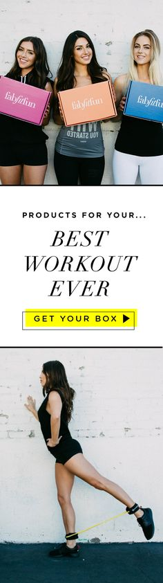 """Put the """"Fit"""" in your life with a box of FabFitFun! Treat yourself to one of our seasonal boxes to get $200+ of full-size fitness, beauty, and fashion products. It's everything you need to help you feel and look your best. It's just $39.99 with code FITNESS!"""