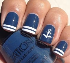 Nail Polish Ideas for 2013 | SocialCafe Magazine #blue #marine #nailart