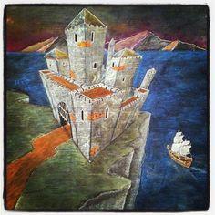 6th grade Medieval History chalk-drawing. By Robyn Beaufoy & Brian Wolfe :: Davis Waldorf School.