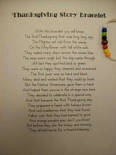 Thanksgiving Story Bracelet   #thanksgiving #story #bracelet #cards