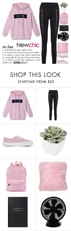 """""""And, finally, life has taught me that the most correct course is to submit to the first spiritual impulse. Whenever a person goes into meditation, he does not gain either joy or happiness.  © Tomi Gretzvelg NEWCHIC W#3"""" by holy-k15 ❤ liked on Polyvore featuring Vans, Abigail Ahern, Smythson and Keystone"""
