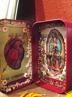 LA VIRGEN DE GUADALUPE~Christine Offutt - Altoid Shrine | Flickr - Photo Sharing!
