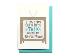 Funny Love Card - Anniversary Card - I Love You Even When You Talk During My…