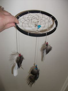 Dreamcatcher mobile II, for my new neice/nephew! (By my talented daughter, Amanda Collingwood.