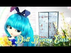 How to Make Doll Bunny Ears and Scarf - Doll Crafts - YouTube