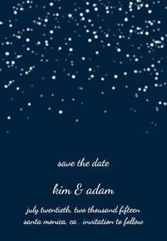 watercolor starry night wedding invites | Starry Night Save the Date Magnet