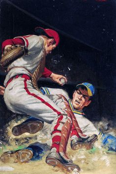Clarence Doore (attributed) — Baseball Home Plate Painting Original Art
